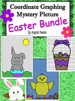 Easter Coordinate Graphing Mystery Picture: Bundle