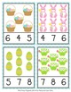 Easter Count and Clip Cards Numbers 1-12