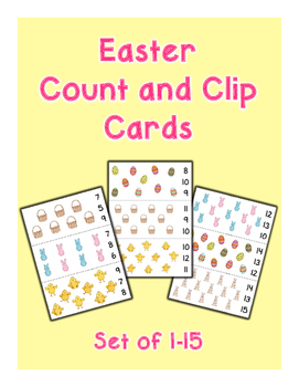 Easter Count and Clip Cards - Set of 15
