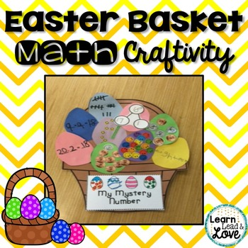 Easter Craftivity--Math fun with a mystery number!