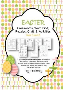 Easter Crosswords, Word Find, Puzzles, Craft  &  Activitie