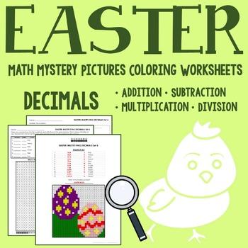 Easter Decimals Coloring Worksheets