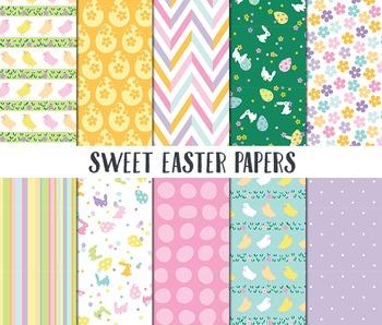 Easter Digital Paper, Digital Paper, Sweet Easter Papers,