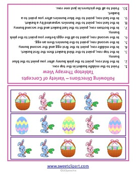 Easter Directions - FREEBIE!