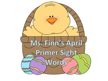 Easter Dolch Primer Sight Words