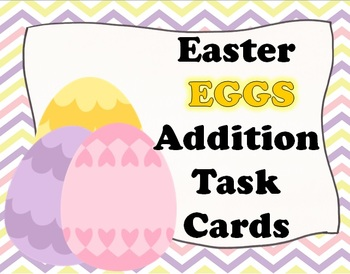 Easter EGGS Addition Task Cards