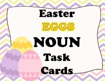 Easter EGGS Noun Task Cards