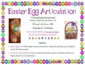 Easter Egg Articulation [f, v, k, g, l, sh, ch, s, r, th a