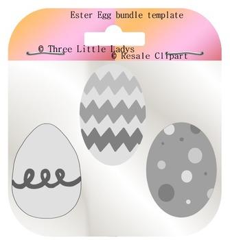 Easter Egg Bundle Templates