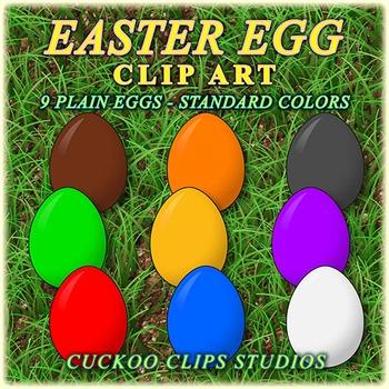 Easter Egg Clipart (Plain, Basic)