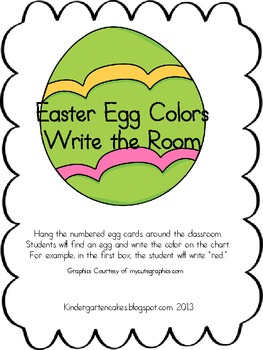 Easter Egg Color Write the Room