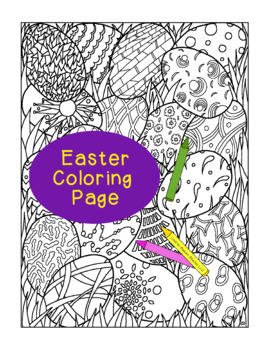 Easter Egg Coloring Page, Bulletin Board, Adult Coloring