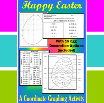 Easter Egg - Coordinate Graphing Activity with Egg Decorat