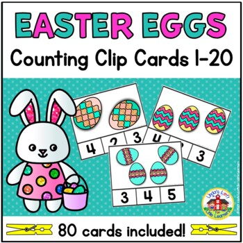 Easter Egg Counting Clip Cards 1-10