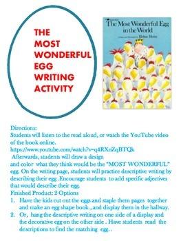 Easter Egg Descriptive Writing Activity