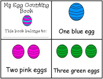 Easter Egg Emergent Reader Counting Mini Book