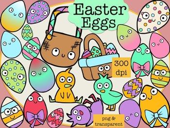 Easter Egg Fun (Clip Art) + Line Art Included!