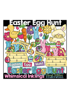 Easter Egg Hunt Clipart Collection