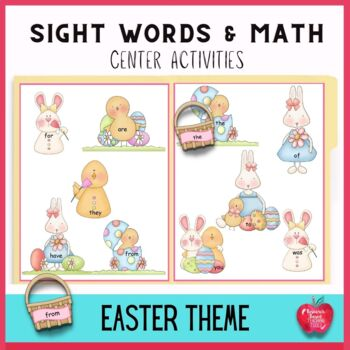 Easter Egg Hunt Literacy and Math Center Activities