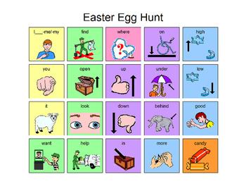 Easter Egg Hunt Manual Board AAC