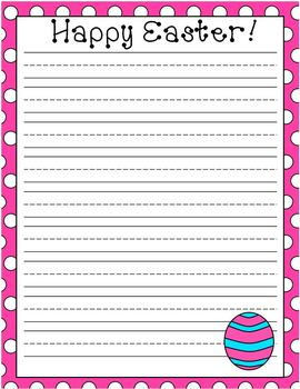 Easter Egg Lined Writing Paper Set