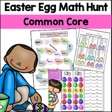 Easter Egg Math Hunt Packet (addition place value subtract