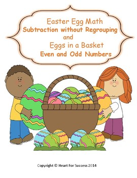 Spring Fun: Easter Egg Math and Eggs in a Basket Subtracti