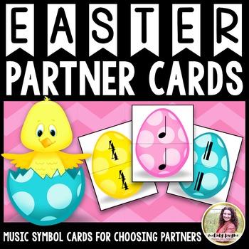 Partner Cards: Easter Egg Partner Choosing Cards {Music Symbols}