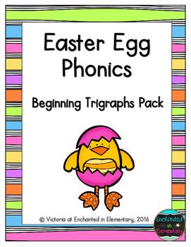 Easter Egg Phonics: Beginning Trigraphs Pack