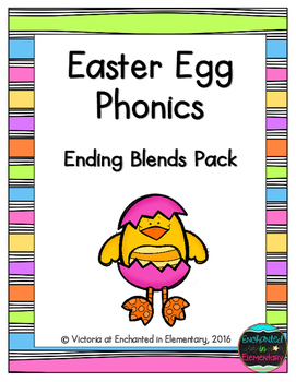 Easter Egg Phonics: Ending Blends Pack