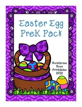 Easter Egg PreK Printable Learning Pack