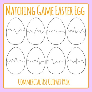Easter Egg Puzzle Templates for Matching Games Commercial