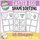 Easter Egg Shape Sorting Mats