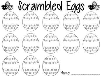 Easter Egg Sight Word Center Recording Sheet