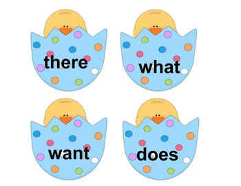 Easter Egg Sight Word Search