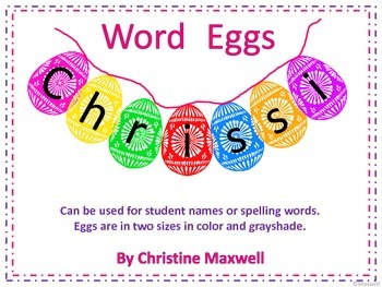 Easter Spell Eggs for Names or Words