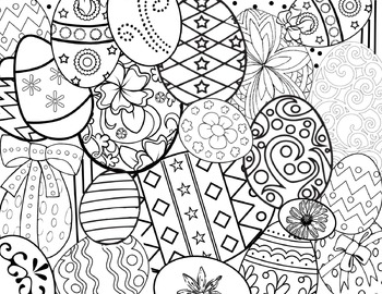Easter Egg Spring Coloring Page