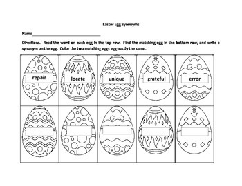Easter Egg Synonyms