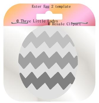 Easter Egg Template 2