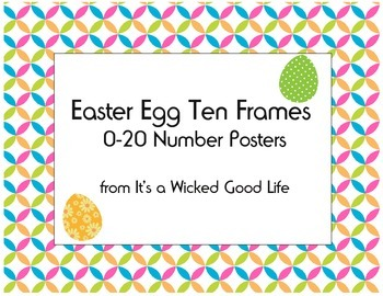 Easter Egg Ten Frame Signs