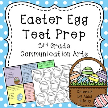 Easter Egg Test Prep: 3rd Grade Communication Arts