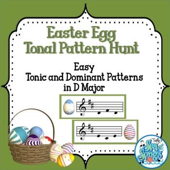 Easter Egg Tonal Pattern Hunt-Easy Tonic and Dominant Patt