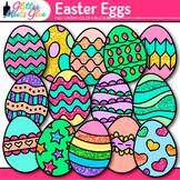 Easter Egg Clip Art {Cute Glitter Graphics for Spring Acti
