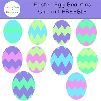Easter Eggs Clipart FREEBIE