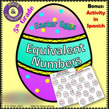 Easter Eggs Equivalent Numbers-Huevos de Pascua numeros eq