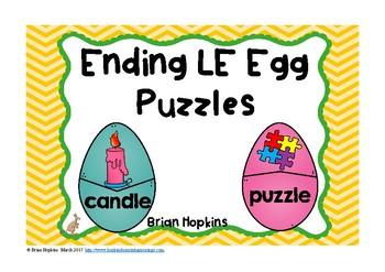 Easter Eggs LE Ending Sounds Puzzles