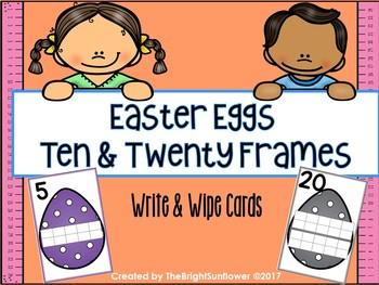 Easter Eggs Ten & Twenty Frames