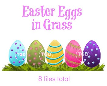 Easter Eggs in Grass - Easter Eggs and Grass Printable Tra