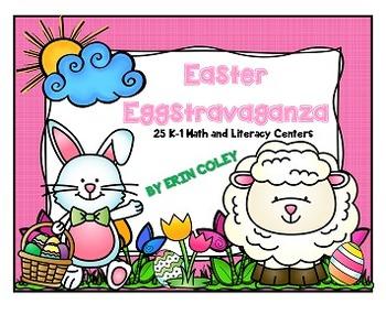 Easter Eggstravaganza (25 Math & Literacy Centers + Word W