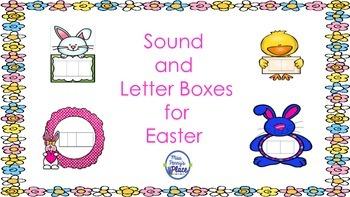 Easter Elkonin Sound and Letter Boxes